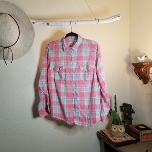 Sonoma life+style Buttondown  Flannel / Womens Top